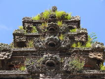Repeated Balinese sculptures horizontal Stock Image