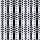 Repeated black and white pattern and texture Royalty Free Stock Photo