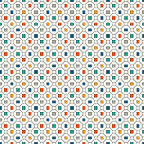 Repeated bright squares abstract background. Minimalist seamless pattern with geometric ornament. Checkered wallpaper. Stock Photo