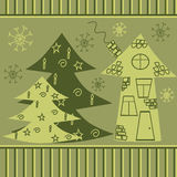 Repeated Christmas pattern Stock Photo