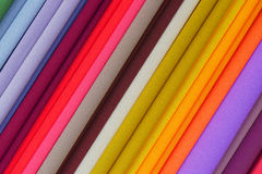 Repeated colours. Colourful fabric on display Royalty Free Stock Photos