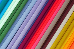 Repeated colours. Colourful fabric on display. At market in Malaysia Royalty Free Stock Images