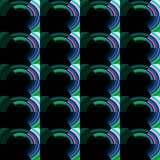 Repeated dark pattern. Repeated dark and green shapes on black background. Abstract texture and design Royalty Free Stock Photo