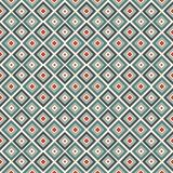 Repeated diamonds background. Geometric motif. Seamless surface pattern design with retro colors rhombuses ornament. Repeated blue diamonds background Royalty Free Stock Image