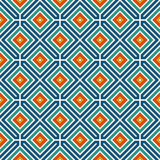 Repeated diamonds background. Geometric motif. Seamless surface pattern design with retro colors rhombuses ornament. Repeated vivid diamonds background Stock Image