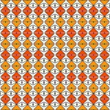 Repeated diamonds and lines background. African style ethnic wallpaper. Seamless pattern with rhombuses ornament. Stock Photo