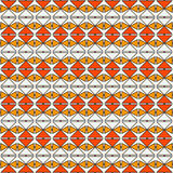 Repeated diamonds and lines background. African style ethnic wallpaper. Seamless pattern with rhombuses ornament. Royalty Free Stock Images