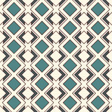 Repeated diamonds and lines background. Ethnic wallpaper. Seamless surface pattern design with rhombuses ornament. Stock Images