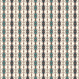 Repeated diamonds and lines background. Ethnic wallpaper. Seamless surface pattern design with rhombuses ornament. Royalty Free Stock Photography