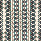 Repeated diamonds and lines background. Ethnic wallpaper. Seamless surface pattern design with rhombuses ornament. Royalty Free Stock Images