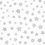 Repeated double contours of stars. Festive seamless pattern. Endless stylish print. Simple vector illustration Stock Image