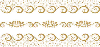 Repeated festive Christmas pattern  illustration Royalty Free Stock Photo