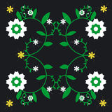 Repeated Flower Background Stock Images