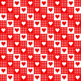 Repeated hearts Royalty Free Stock Photos