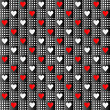 Repeated hearts texture Royalty Free Stock Image