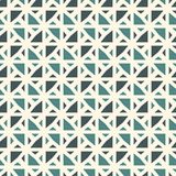 Repeated mini triangles on white background. Simple abstract wallpaper. Seamless pattern design with geometric figures. stock illustration