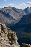 Repeated mountain peaks Royalty Free Stock Photo