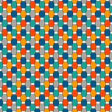 Repeated octagons stained glass mosaic background. Seamless pattern with vertical braid motif. Geometric tile ornament. Stock Photography