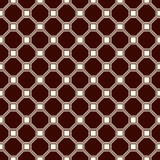 Repeated outline octagons and squares abstract background. Minimalist seamless surface pattern with geometric ornament. Stock Photography