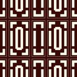 Repeated outline squares and brackets on white background. Symmetric geometric surface pattern design wallpaper. Stock Image