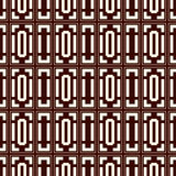 Repeated outline squares and brackets on white background. Symmetric geometric surface pattern design wallpaper. Royalty Free Stock Images