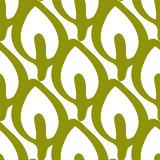 Repeated outlines of leaves. Organic seamless pattern. Royalty Free Stock Photos
