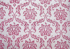 Repeated Paisley filigree Pattern white Background Royalty Free Stock Images