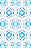 Repeated pattern. Background - blue flowers Stock Image