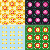 Repeated pattern. Four different Repeated pattern background - additional ai and eps format available on request Stock Photography