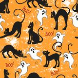 Repeated pattern for Halloween. Royalty Free Stock Images