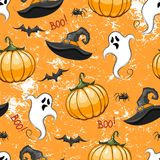 Repeated pattern for Halloween. Stock Photo