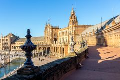 Repeated pattern of ornaments at plaza de espana royalty free stock image