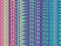 Repeated patterns, computer windows, glitch effect stock illustration