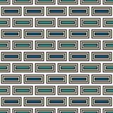 Repeated rectangular blocks abstract background. Bricks motif. Ethnic style seamless pattern with geometric ornament. Repeated rectangular blocks abstract Stock Photography