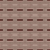 Repeated rectangular blocks abstract background. Bricks motif. Ethnic style seamless pattern with geometric ornament. Repeated rectangular blocks abstract Royalty Free Stock Photos