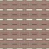 Repeated rectangular blocks abstract background. Bricks motif. Ethnic style seamless pattern with geometric ornament. Repeated rectangular blocks abstract Stock Photo