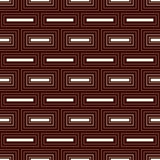 Repeated rectangular blocks abstract background. Bricks motif. Outline seamless pattern with simple geometric ornament. Stock Image