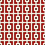 Repeated squares and brackets on white background. Modern ornament motif. Seamless pattern with geometric print Stock Photo