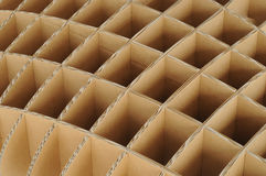 Repeated structure of recycle carton cardboard for wallpaper pho Stock Images