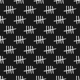 Repeated tally marks. Seamless pattern. Sketch, doodle. royalty free illustration