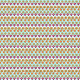 Repeated textile pattern in violet and brown hues Royalty Free Stock Image