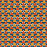 Repeated triangles background. Simple abstract wallpaper with geometric figures. Seamless surface pattern Royalty Free Stock Images