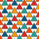 Repeated triangles background. Simple abstract wallpaper with geometric figures. Seamless surface pattern. Repeated triangles on white background. Simple Stock Image