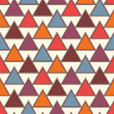 Repeated triangles background. Simple abstract wallpaper with geometric figures. Seamless surface pattern Royalty Free Stock Image