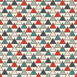 Repeated triangles background. Simple abstract wallpaper with geometric figures. Seamless surface pattern Royalty Free Stock Photo