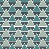 Repeated triangles background. Simple abstract wallpaper with geometric figures. Seamless surface pattern. Repeated triangles on white background. Simple Stock Photography