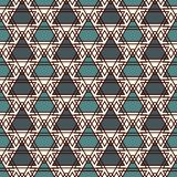 Repeated triangles and thin line grid background. Simple abstract wallpaper. Seamless pattern with geometric figures. Repeated triangles and thin line grid Royalty Free Stock Photo