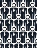 Repeated vector backdrop with people facing forward, white colla Stock Images