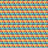 Repeated vivid color cubes background. Geometric shapes wallpaper. Seamless surface pattern design with polygons. stock illustration