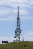 Repeater antenna for phones. Repeaters parables technology teleconications phone stock photos